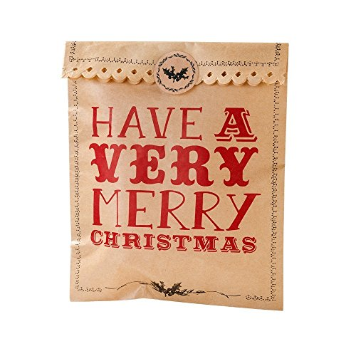 The Wrapping Room Sacs cadeaux inscription Have a Merry Christmas