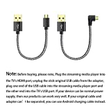 USB Cable for Chromecast, Roku Stick USB Cable No AC Outlet Need, Power Cable Compatible for Fi…