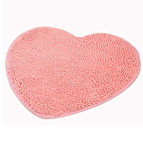 Alfombra Alfombra Alfombra Antideslizante Puerta del Porche Cocina Alfombra de baño Baño Alfombra Antideslizante Sala de Estar Dormitorio Alfombra (Color : Pink, Size : 50CM*60CM)