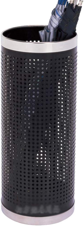Round Umbrella Bucket Hotel Lobby Umbrella Storage Bucket - Stainless Steel (LxWxH) 22x22x57.5cm A+ (color   B)