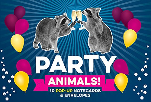 Party Animals! Pop up Notecard Collection: 10 Pop-Up Notecards & Envelopes