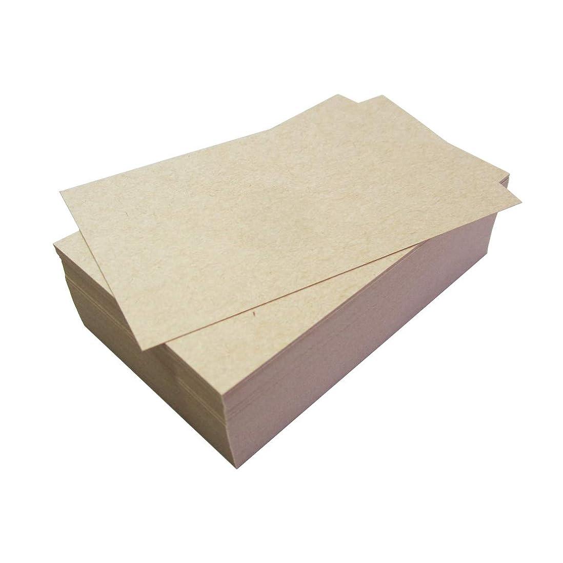 等技術者円周メッセージカード 厚手クラフト紙 名刺サイズ 無地 100枚 用紙色:薄茶色 PP製箱入