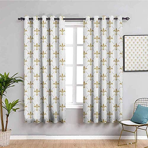 MENGBB Blackout Curtain for Kids Girls Microfiber - White simple stylish modern - Thermal Insulated 90% Blackout - 63x71 inch Kitchen Bedroom Living Room Window Eyelet Curtains
