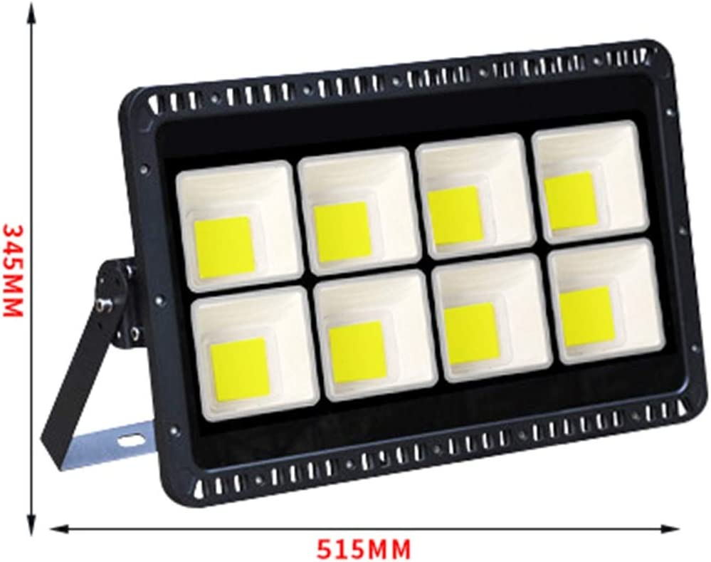 LED-Außenregenstrahler, Sicherheit Blitzschutz Gericht Quadrat Seite? ˅ Turmdrehkran Projektion Flutlicht Sicherheitslicht (Color : Warm white light-400W) White Light-400w