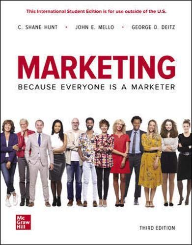 Compare Textbook Prices for Marketing 3 Edition ISBN 9781260575934 by Hunt, Shane,Mello, John,Deitz, George