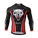 SXSHUN Maillots de Ciclismo para Hombres Ropa de Ciclismo Camisa Manga Larga Traje de Bicicleta Transpirable, Esqueleto B2339, L