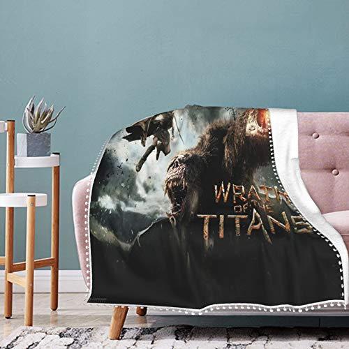 Wrath Of The Titans Micro-Fleece-Überwurfdecke für Kinder und Erwachsene, ultraweich, warm, leicht, 3D-gedruckte Decken für Bett, Couch, Sofa, Wohnzimmer, 127 x 101,6 cm