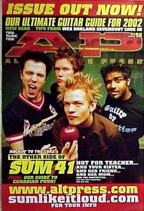 Collectible poster for the band Sum 41 - on the cover of AP Magazine poster. The poster is not sold by Sum 41/AP Magazine