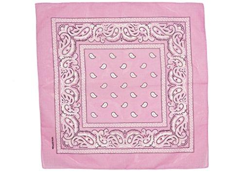 shenky - Bandana - Pañuelo para motorista - 100% algodón - Estampado de cachemira - Rosa - Pack de 5 unidades