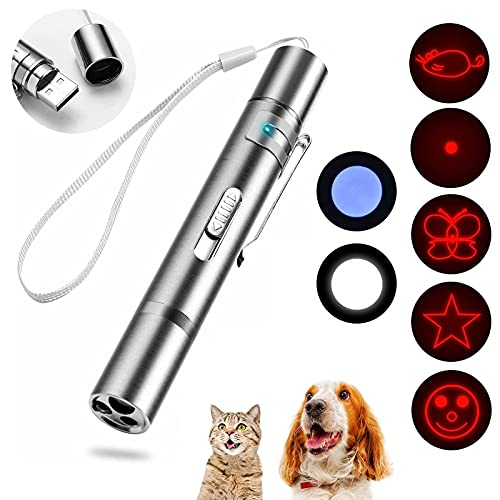 iZiv Interactive Cat Toys for Indoor Cats, Cat and Dog Chaser Toys for Pets Playing Training with USB Charging Port