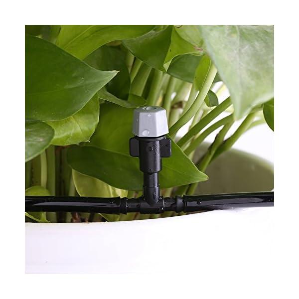 Fdit Equipo de Riego por Goteo Sistema de Enfriamiento Automático Manguera Rociador de Riego Boquilla de Jardín Patio…