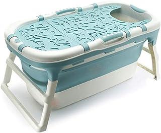Zhicaikeji Bañera Plegable Materiales PP y TPE Tiempo con Cubierta Aislante Bañera Plegable for Adultos Piscina for bebés ...