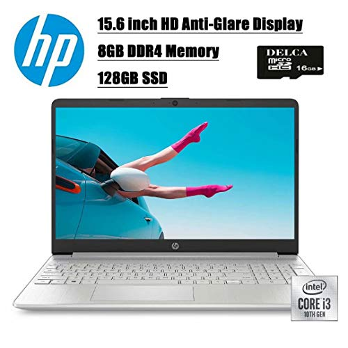2020 Premium Newest 15 Business Laptop Computer I 15.6 inch HD Anti-Glare Display I 10th Gen Intel Core i3-1005G1(I5-7200U) I 8GB DDR4 128GB SSD I WiFi BT 4.2 USB-C Win 10 + Delca 16GB Micro SD Card