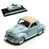 FIAT 500 Topolino Blau 1936-1955 mit Sockel 1/43 Modellcarsonline Modell Auto mit individiuellem Wunschkennzeichen