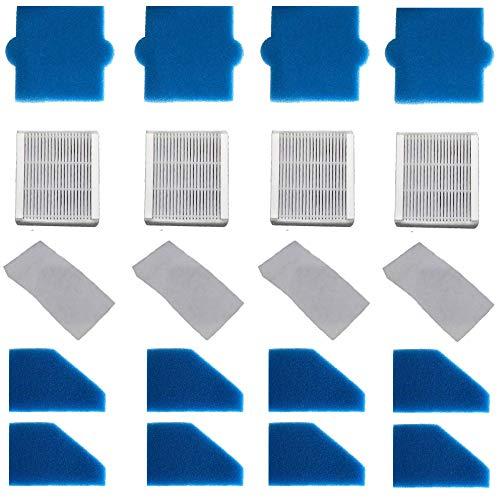 4x filterset compleet (20-delig) voor Pet & Family, Allergy & Family, Multi Clean X8 Parquet, Multi Clean X10 Parq, X7, Thomas Aqua+ stofzuiger als alternatief voor Thomas filterset 99 (onderdeelnr. 787241)
