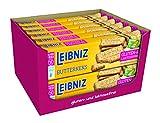 LEIBNIZ Butterkeks Gluten- und Laktosefrei - 12er Pack - Vorratsbox - Knackfrisch und nur echt mit 52 Zähnen...