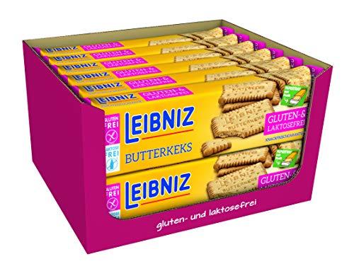 LEIBNIZ Butterkeks Gluten- und Laktosefrei - 12er Pack - Vorratsbox - Knackfrisch und nur echt mit 52 Zähnen (12 x 100 g)