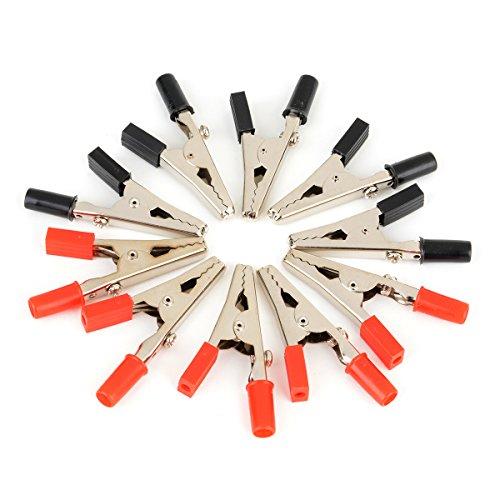 10 x Clips Cocodrilo Aislado Mango Plástico Cable