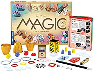 Thames & Kosmos Magic: Gold Edition | Playset with 150 Tricks | 96 Page Full Color Instruction Manual | 42 Props | Video T...