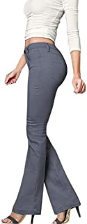 HyBrid & Company Women's Skinny Bootcut Stretch Pant