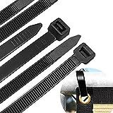 AIGLEROUGE Fascette Plastica per Cablaggio 650 mm,Resistenza alla trazione: 55 kg, Fermacavo, Elettricista 650mm Cavi Stringicavo, Nere, 40 Pezzi