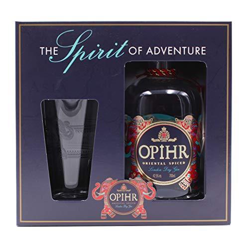 Opihr Oriental Spiced London Dry Gin 0,7L (42,5{32b1ea42e10de868a60de53d7df68a154c3ee50cddf4d0300cd4a0f8e364c0b5} Vol.) avec coffret cadeau et verre