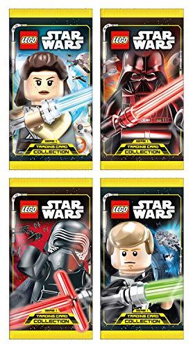 Top Media 180224Lego Star Wars Cartas coleccionables, Pantalla con 50Paquetes