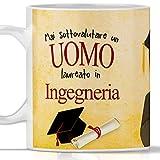 Tazza laurea INGEGNERIA per UOMO. Gadget regalo per laurea maschile in Ingegneria