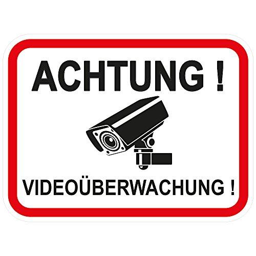 """10 Stück Aufkleber\""""Achtung Videoüberwachung\"""" 120x90 mm, selbstklebend, kratz und Wetterfest"""