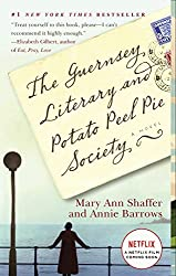 postcard with title the guernsey literary and potato peel society book cover