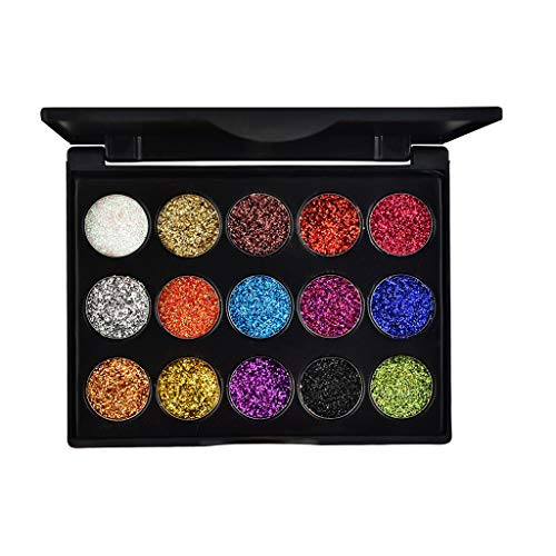 3D Shadow Gradient Eyes Make-up-Paletten, 17 Farben Shimmer Glitter Highlight Perlmutt Lidschatten-Pulver Wasserdichte Lidschatten-Paletten Diamond Sequin Eyeshadow Cosmetic
