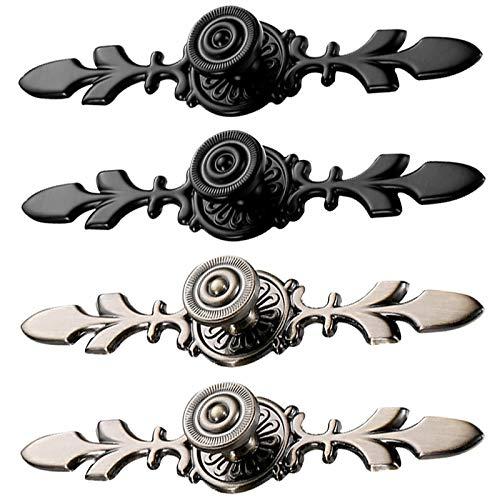 Tiradores para Cajones Vintage Negro Bronce Tiradores Armarios Dormitorio Antiguos Aleación de Zinc Tiradores Muebles para Armario,Tocador, Cocina, Baño, Home, Dormitorio y Oficina Decoración