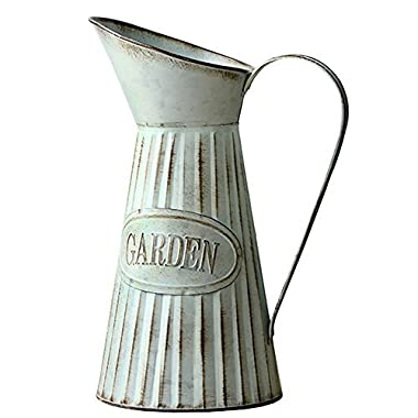 VANCORE Rustic Large Metal Pitcher Jug Vase for Flowers 6 (L) x 12.6  (H)