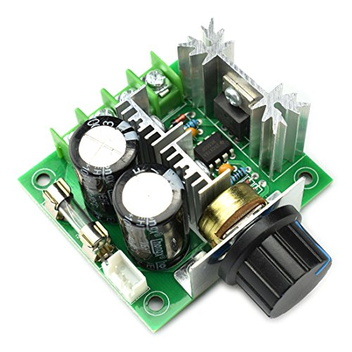 DZS Elec 10A 12V-40V DC Motor Speed Controller 12V 24V PWM Variable Speed Regulator Governor Switch CCMHCN With Speed Control Knob
