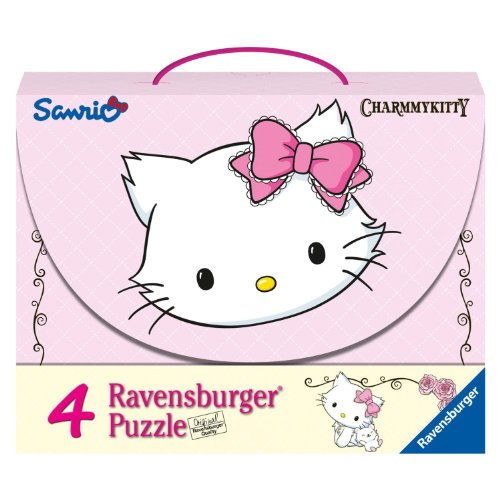 Hello Kitty - Charmmy Kitty, Maleta con 4 Puzzles (Ravensburger 07311 5)