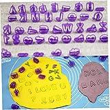 Herramientas 40pcs del Alfabeto De Mayúsculas Número Cortador del Émbolo De La Pasta De Azúcar De Plástico Cortador De Galletas De Azúcar Que Adorna