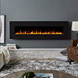 Real Flame Corretto Electric Fireplace, 72', Black