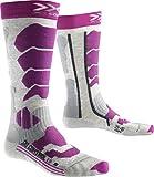 X-Socks Ski Control 2.0, Calze Donna, Grigio/Viola, 37/38