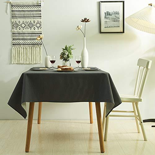 LIUJIU Home Nappe de Table carrée résistante à la saleté et à l'eau Effet Lotus Facile d'entretien Disponible en différentes Tailles e,140X180cm