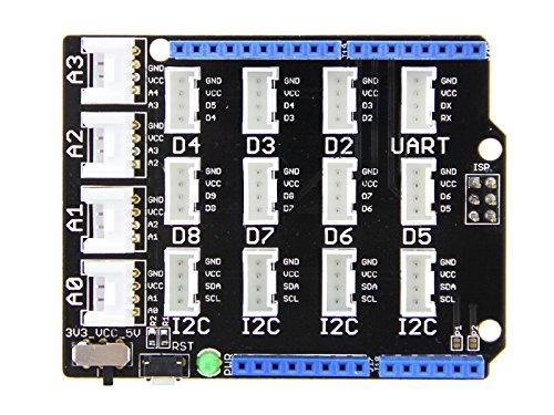 arduinoベースシールド デジタル・アナログ・I2C・UART・Groveコネクタ パワー転換 拡張ボード arduino uno R3と互換可能ー Base Shield V2