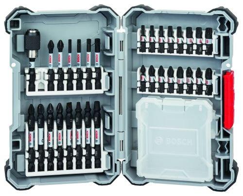 Schrauberbit-Set Impact Control | Bohraufsatz-Set | 31-tlg. Zubehör Set für Akku-Schrauber | 22x Schrauberbits, 6x Doppelklingen, 1x Universalhalter magnetisch, 1x leere Box im Koffer