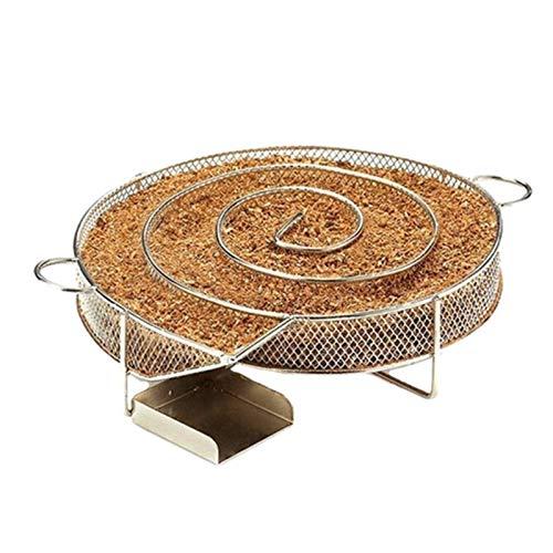 Smoker Räucherbox Edelstahl Smokerbox Multifunktionales Raucher Box für Gasgrill, Grill, Kugelgrill, Holzkohlegrill - Köstlich Geräuchert Hinzufügen