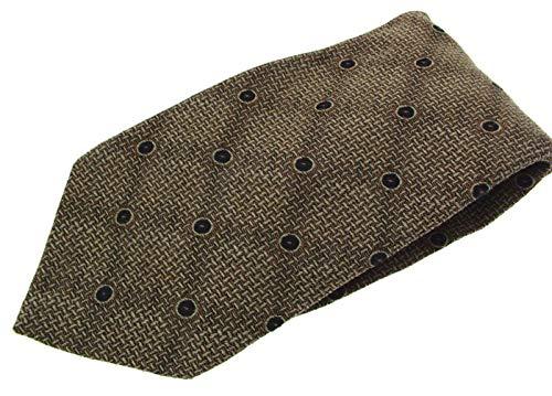 Marks & Spencer Cravate en soie pour homme Marron avec cercles