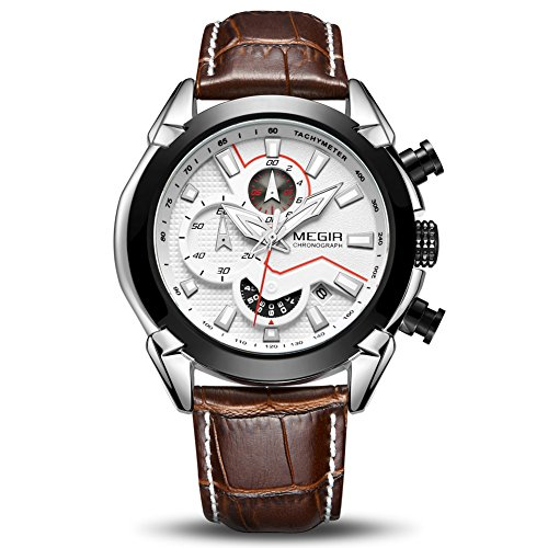 MEGIR Men Business Analogue Quartz...