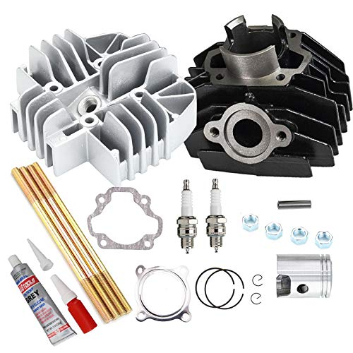 Cylinder Piston Rings Kit Engine Head Gasket Clip PW80 Top End Set Compatible with 1983-2006 Yamaha PW80 PW 80 Replaces OEM# 21W-11111-00-00, 1W7-11181-00-00,4AW-11351-00-00, 3E5-11631-00-97
