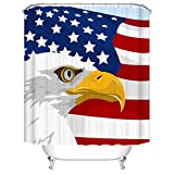 Duschvorhang 180X220 Adler Duschvorhang Anti-Schimmel & Wasserabweisend Shower Curtain, Duschvorhänge mit 12 Haken,Duschvorhang Textil Waschbar,Polyester