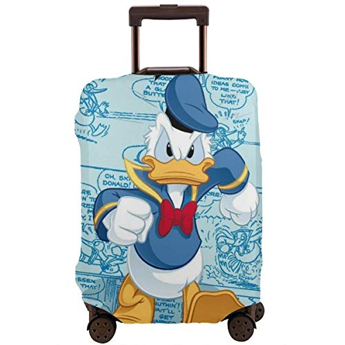 Travel Luggage Cover Anime Color Don Donald Fauntleroy Duck Suitcase Covers Protectors Zipper Washable Baggage Luggage Covers Fits L