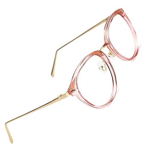 24f01a579d4 TIJN Round Optical Eyewear Non-prescription Eyeglasses Frame Blue Light  Blocking Glasses Computer Glasses for