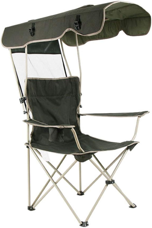 KKCD Camp Chair Outdoor Folding Sunshade Chair Portable Leisure Chair Fishing Chair Adjustable Oxford Cloth Beach Chair 88  91  123cm