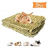 PIVBY Grass Mat for Rabbits Bunny Chew Toys Natural Woven Pet Bed Nest Mat Play Toys for Hamsters Parrot...